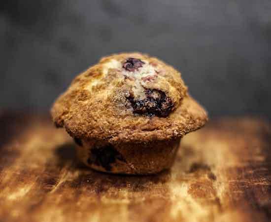 Blackberry Sour Cream Muffin